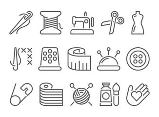 Sewing line icon