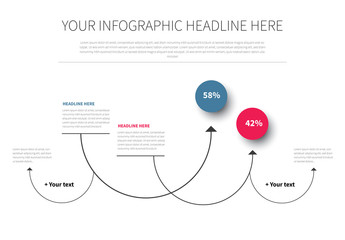 Curved Arrow Infographic Layout