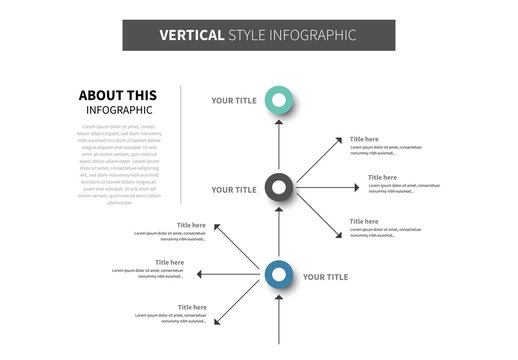 Vertical Mind Map Infographic Layout