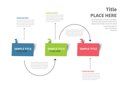 Colorful Three Step Infographic Layout