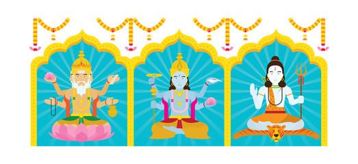Trimurti, Brahma, Vishnu, Shiva