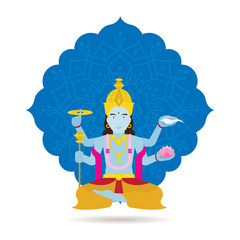 Vishnu Hindu God or Deity