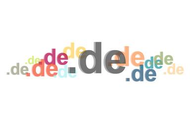Viele bunte deutsche Domains