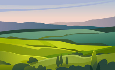 Green valley landscape. Fototapete