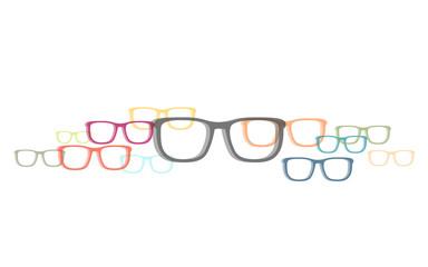 Viele bunte Brillen