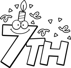 Cartoon 7th Birthday