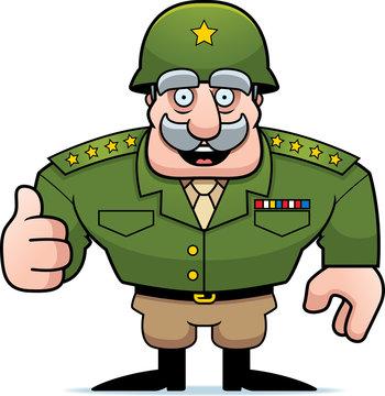 Cartoon Military General Thumbs Up