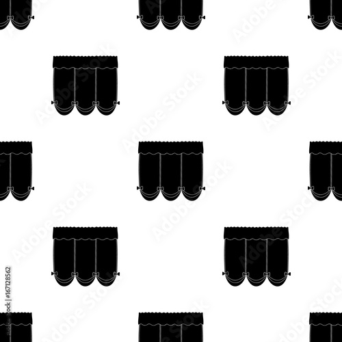 Curtains With Drapery On The Cornicecurtains Single Icon In Black
