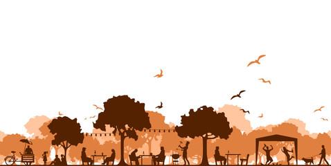 Silhouette Herbstfest