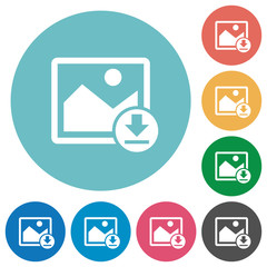 Download image flat round icons