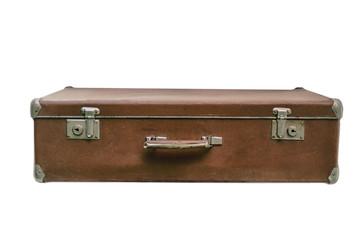 Old suitcase, isolated on white background
