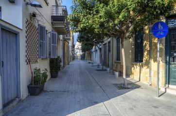A street in Nicosia, Cyprus