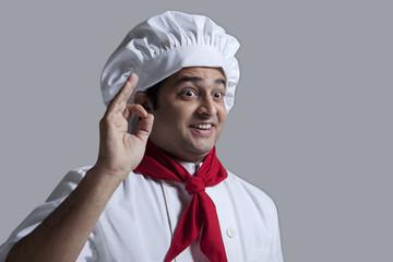 Chef giving the okay sign
