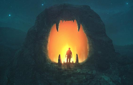 Lion mouth cave