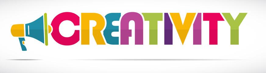 mégaphone mot : creativity