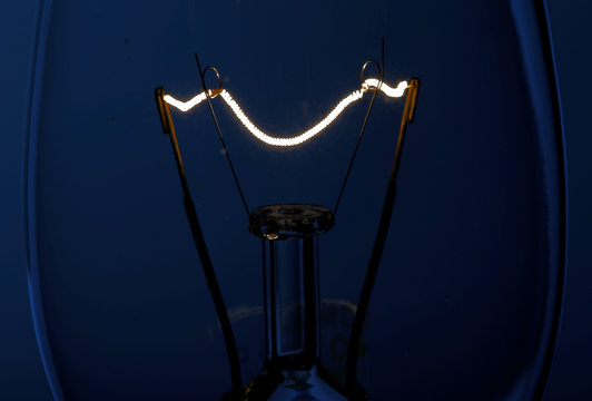 Illustration picture of the filament of an incandescent light bulb