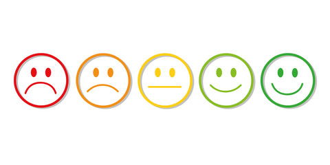 smiley bewertung feedback weiß
