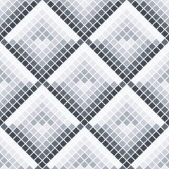 Abstract seamless pattern of squares. Ceramic tiles.