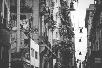 Street with houses in Buenos Aires. Shevelev.
