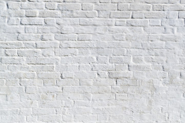 clean white painted brick wall. background, texture.