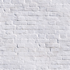 seamless clean white painted brick wall. background, texture.