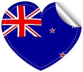 Sticker design for New Zealand flag