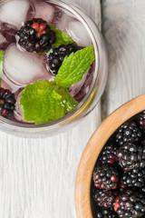 Fresh blackberry drink