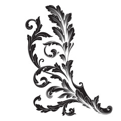Ornament vector baroque