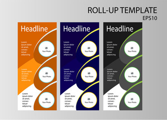 Roll-up banner template