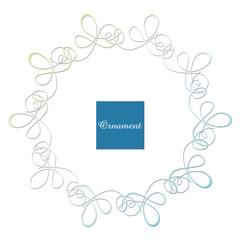 レリーフ状のフレーム|クラシカルオーナメント|飾り罫|飾り囲み|囲み罫|Hand drawn ribbon