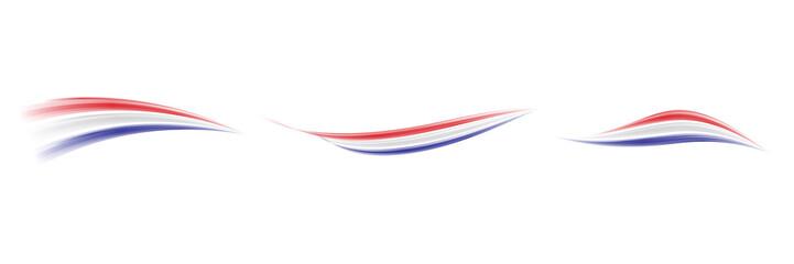 Dutch abstract flag. Vector illustration - Set. Netherlands Flags