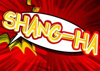Shang-ha - Vector illustrated comic book style expression.