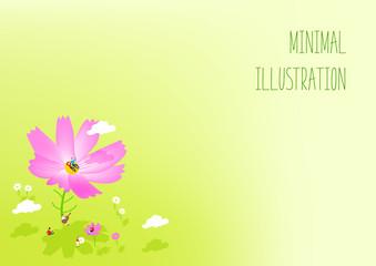 Autumn minimalist illustration