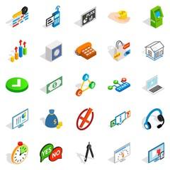 Image icons set, isometric style