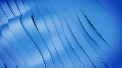 Abstract 3D Wavy band surface.