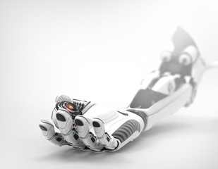 Robotic eye in bionic arm