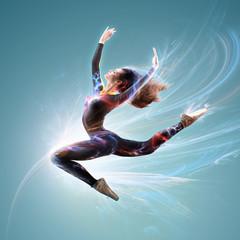Girl Balet dancer jumping