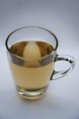 Tea in a glass mug