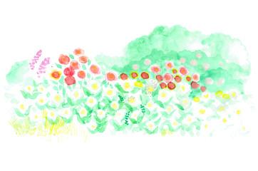 花でいっぱいの庭 Flower filled garden