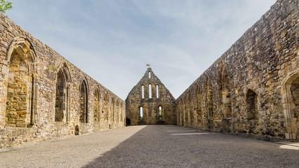 Battle abbey ruins in Battle, Sussex, UK.