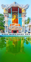The pool in Angurukaramulla Buddhist Temple of Negombo