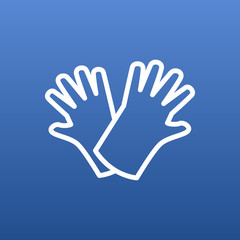 Isolated Gloves Outline Symbol On Clean Background. Vector Safer Of Hand  Element In Trendy Style.