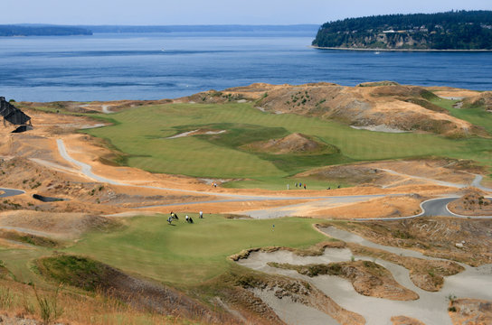 Chambers Bay Golf Course in University City, Washington, venue of US Open 2015