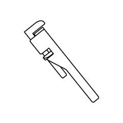 Plumbing wrench isolated