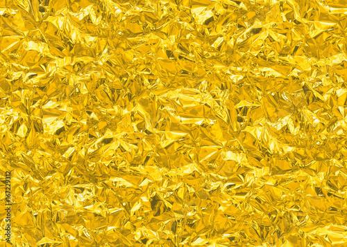 Gold Seamless Tileable HD Texture Shiny Leaf Metal Foil Background Bright Brilliant Festive
