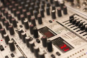 Audio mixer control panel