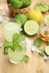 kaffir lime and lemon