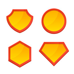 Blank Superhero Logo Template Set. Vector