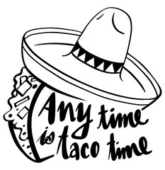 Word expression for anytime is taco time