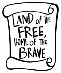 Word expression for land of the free home of the brave